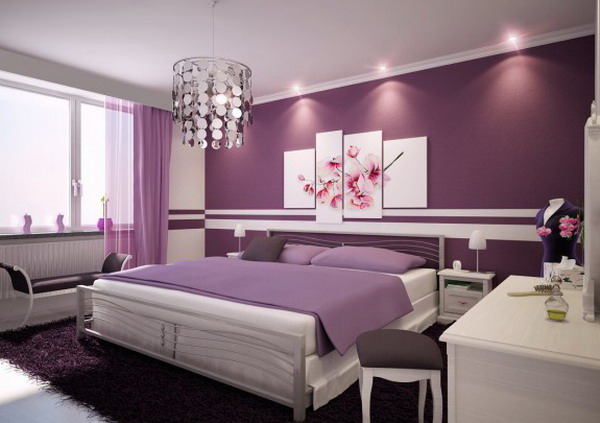 Beautiful-Elegant-Purple-Bedroom-Paint-Interior-Decorating-Ideas