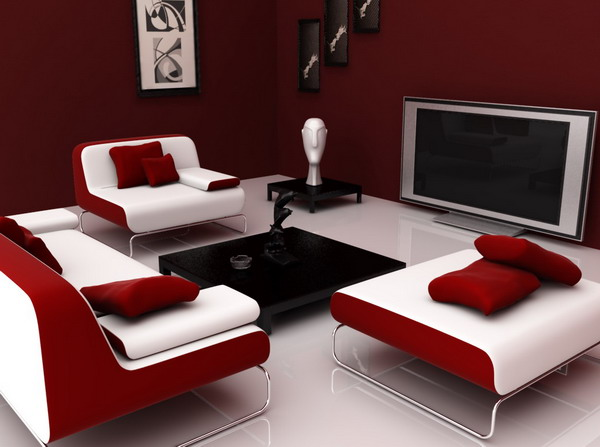 Comfortable-Modern-Red-Living-Room-Design-Ideas