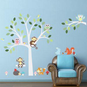 Fox-owls-font-b-monkey-b-font-font-b-sleep-b-font-swing-on-White-tree