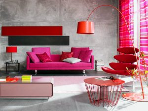 bold-red-pink-color-living-room-decorating-idea